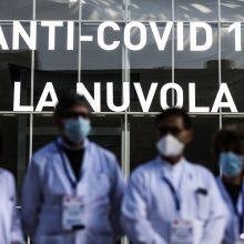 Italijoje patvirtinti 20 884 nauji COVID-19 atvejai, mirė 347 žmonės