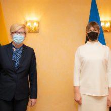 Aptarti svarbiausi Lietuvos ir Estijos bendradarbiavimo klausimai