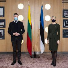 G. Landsbergis Taline: Lietuva pasirengusi padėti Estijai, kovojančiai su koronaviruso pandemija