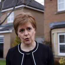 Škotijos lyderė žada dar vieną referendumą dėl nepriklausomybės, jei jos partija būtų perrinkta