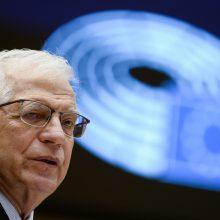 J. Borrellis pesimistiškai kalba apie geresnius santykius su Rusija