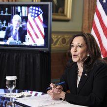 JAV viceprezidentė ir Meksikos prezidentas žada bendradarbiauti pasienio krizės klausimu