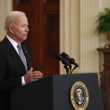 J. Bidenas siūlo sureguliuoti palestiniečių ir Izraelio konfliktą dviejų valstybių sambūvio pagrindu