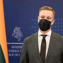 G. Landsbergis: sankcijos Baltarusijai dėl migrantų – teisingiausias atsakas