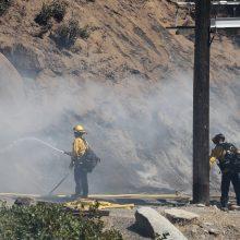 Kalifornijoje ugniagesiai kovoja su didžiuliu miško gaisru
