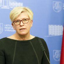 Premjerė: ES ir Varšuvos ginčas yra nemalonus, bet sprendimas gali būti rastas
