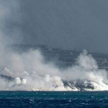 Kanarų ugnikalnio lava padengė 10 ha plotą jūroje