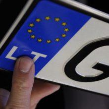 Lietuvoje atpigo automobilių valstybinio numerio ženklai