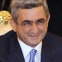Korupcija kaltinamam Armėnijos eksprezidentui uždrausta išvykti iš šalies