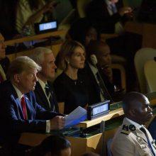 D. Trumpas neplanuotai pasirodė JT viršūnių susitikime dėl klimato