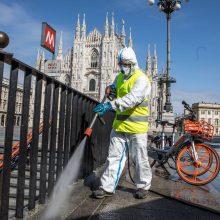 Italijoje nuo koronaviruso mirė dar 837 žmonės, bet naujų užsikrėtimų tempas lėtėja