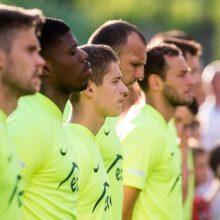"""""""Trakų"""" futbolininkai apie rungtynes Europos lygoje: turime parodyti, kad geresni"""