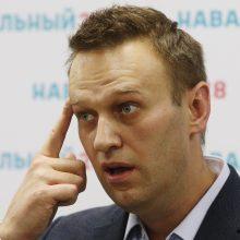 Rusijoje surengti masiniai reidai prieš opozicijos lyderį A. Navalną