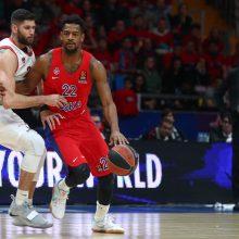 CSKA krepšininkai Eurolygos ketvirtfinalyje nugalėjo T. Sedekerskio ekipą