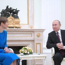"""Estijos prezidentė: susitikimas su V. Putinu buvo """"labai geras"""""""