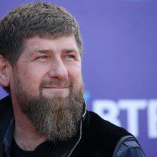 Čečėnijos vadovas R. Kadyrovas pasirodė vyriausybės susitikime