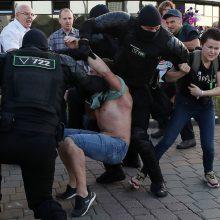Baltarusijoje į ligonines pateko 200 žmonių, nukentėjusių per susirėmimus