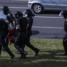 Minske specialiosios pajėgos pradeda praeivių areštus