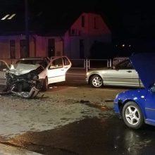 Šančiuose – masinė avarija: sužaloti trys žmonės