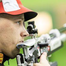 Šaulys K. Girulis Europos žaidynėse susidūrė su technikos bėdomis