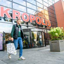 Vakare dėl galimybių pasų tikrinimo prie Kauno prekybos centrų eilės nenusidriekė