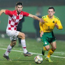 Lietuviai nusileido Kroatijos jaunimo futbolo rinktinei
