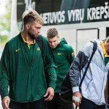 Lietuvos vyrų krepšinio rinktinė atvyko į Belgradą