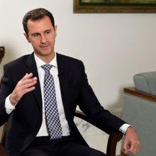 Sirijos prezidentas B. al-Assadas žada, kad puolimas šalies šiaurėje bus tęsiamas