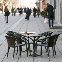 Seimui bus teikiami siūlymai dėl lauko kavinių