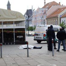 Paryčiais Klaipėdos centre nudurtas ukrainietis