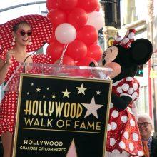 Pelytė Minė pagaliau gavo savo žvaigždę Holivudo Šlovės alėjoje