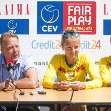 Paplūdimio tinklininkės Vilniuje sieks aukščiausių vietų
