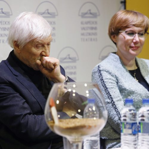 """Operos """"Don Žuanas"""" spaudos konferencija  © Vytauto Petriko nuotr."""