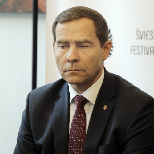 Šviesų festivalio spaudos konferencija  © Vytauto Petriko nuotr.
