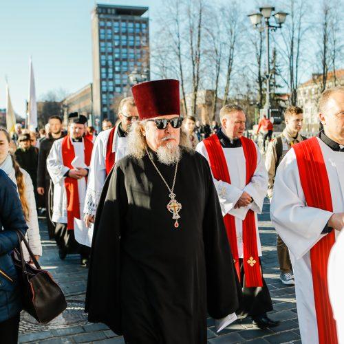 Šv. Kryžiaus kelias Klaipėdos miesto gatvėmis  © Vytauto Petriko nuotr.