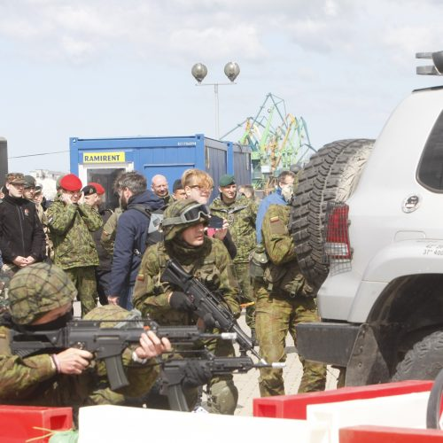 Karinės pratybos Klaipėdoje   © Vytauto Liaudanskio nuotr.