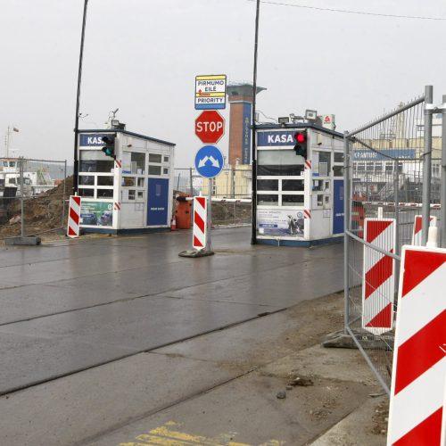 Startavo Naujosios perkėlos rekonstrukcija: tikimasi, kad sumažės eilės  © Vytauto Liaudanskio nuotr.