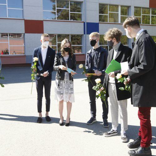 Paskutinis skambutis Klaipėdos Vydūno gimnazijoje  © Vytauto Liaudanskio nuotr.