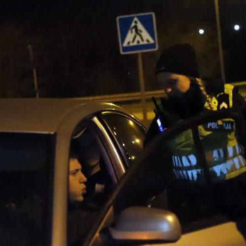 Kauno policijos vykdytas reidas