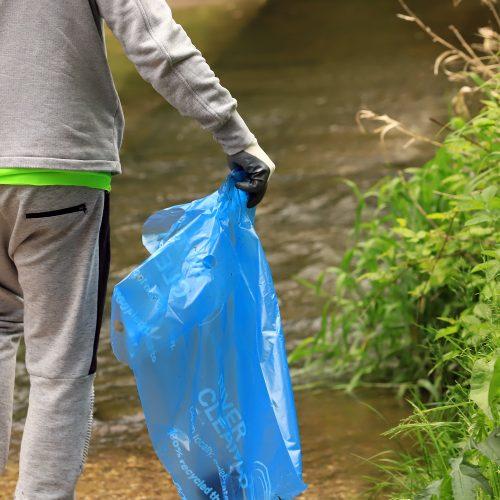 Jiesios ir Nemuno upių pakrančių švarinimas  © Laimučio Brundzos nuotr.