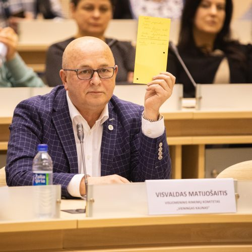 Kandidatų į Kauno miesto merus debatai  © Eitvydo Kinaičio nuotr.