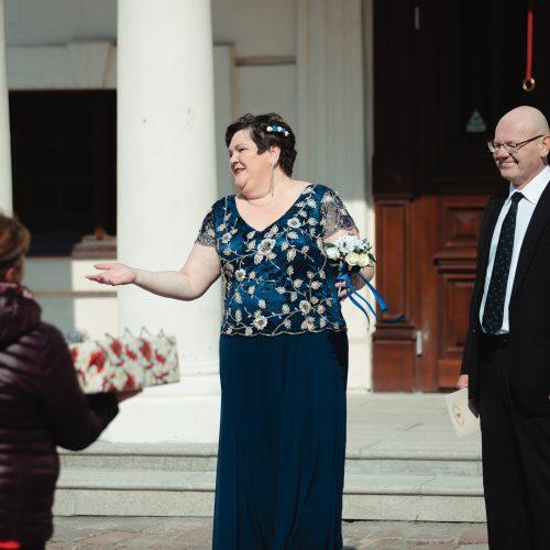 Vestuvės karantino sąlygomis  © Eitvydo Kinaičio nuotr.