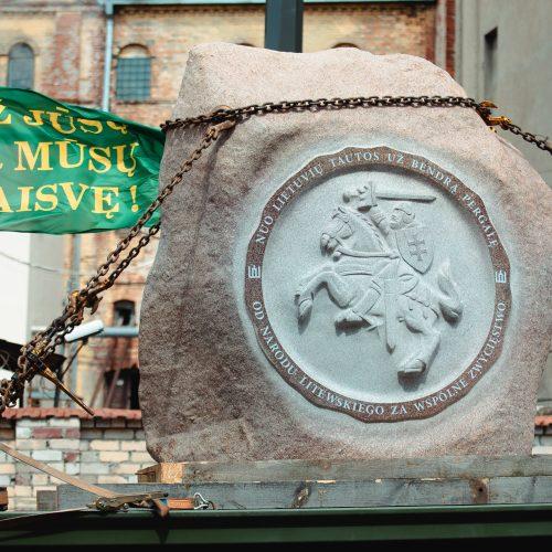 Į Griunvaldą gabenamas akmuo Žalgirio mūšio metinėms paminėti  © Eitvydo Kinaičio nuotr.