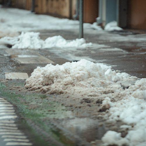 Sniegu pasidengusios Kauno gatvės  © Eitvydo Kinaičio nuotr.