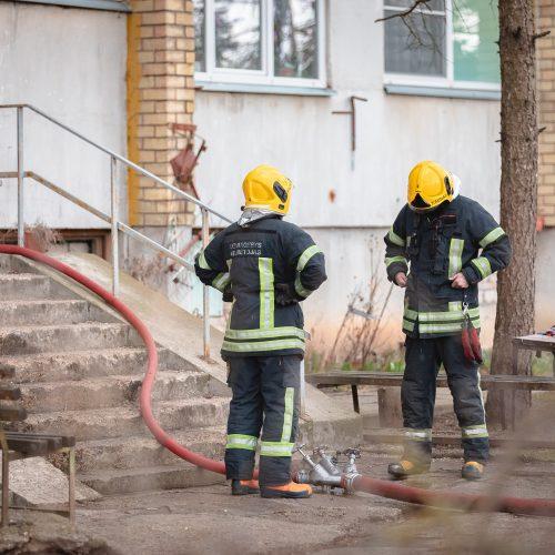 Jonavos gatvėje degė daugiabučio virtuvė  © Eitvydo Kinaičio nuotr.