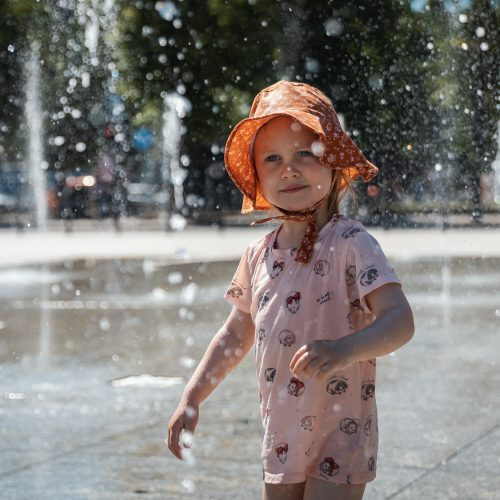 Vaikų džiaugsmai Vienybės aikštėje  © Eitvydo Kinaičio nuotr.