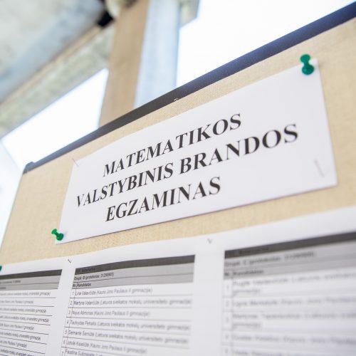 Dvyliktokų nuotaikos po matematikos egzamino  © Justinos Lasauskaitės nuotr.