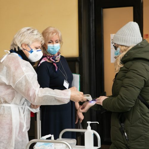 Kauno centriniame pašte pradėta vakcinacija  © Justinos Lasauskaitės nuotr.