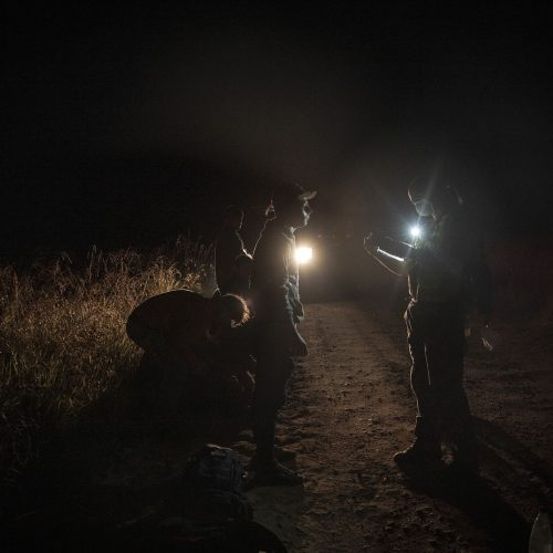 Lietuvos kariuomenės naktinis patrulis pasienyje  © I. Budzeikaitės / KAM nuotr.