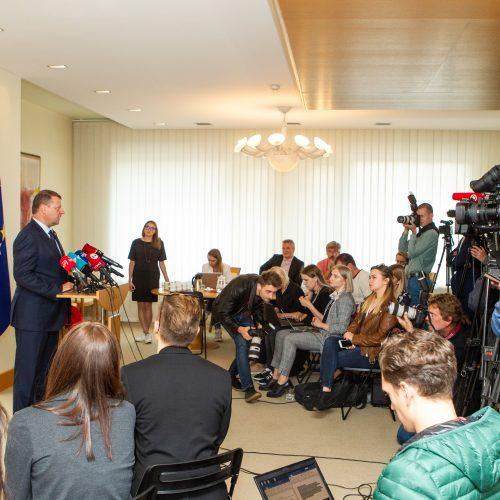 S. Skvernelio spaudos konferencija  © P. Peleckio / Fotobanko nuotr.